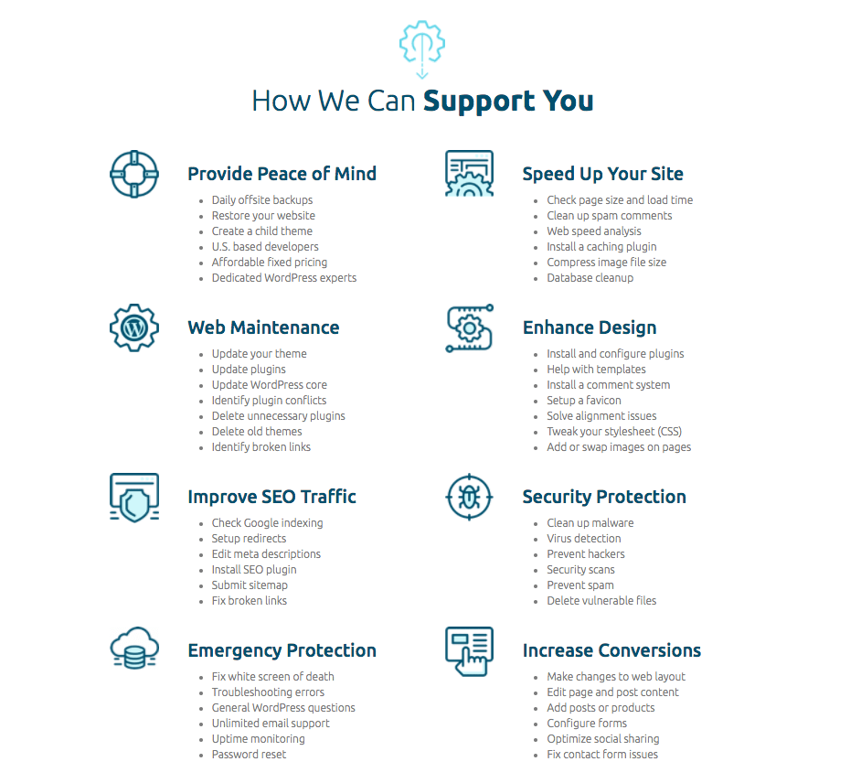 WordPress Support Tasks