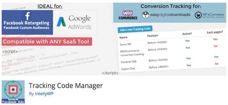 Best WordPress Plugins - Tracking Code Manager