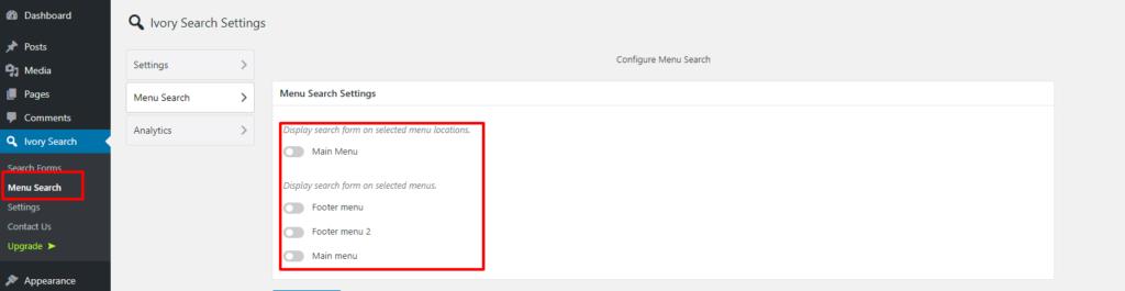 add search to menu in WordPress