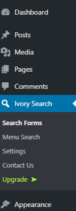 search form settings