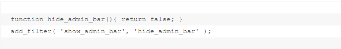 css code to remove admin bar