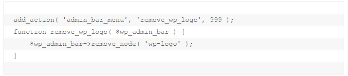 how to remove specific elements of admin bar