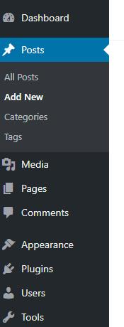 Adding a new WordPress Post
